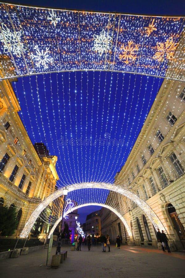 Boekarest de stad in royalty-vrije stock foto's