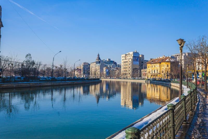 Boekarest in de winter stock afbeelding