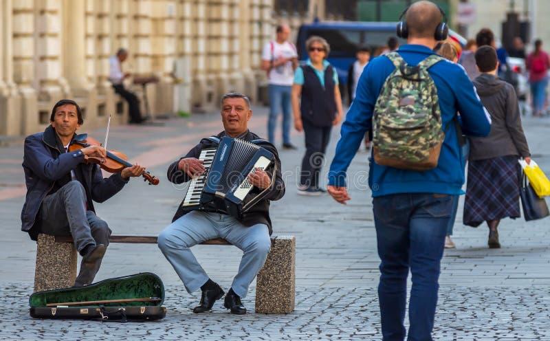 Boekarest - het dagleven in de oude stad royalty-vrije stock foto's