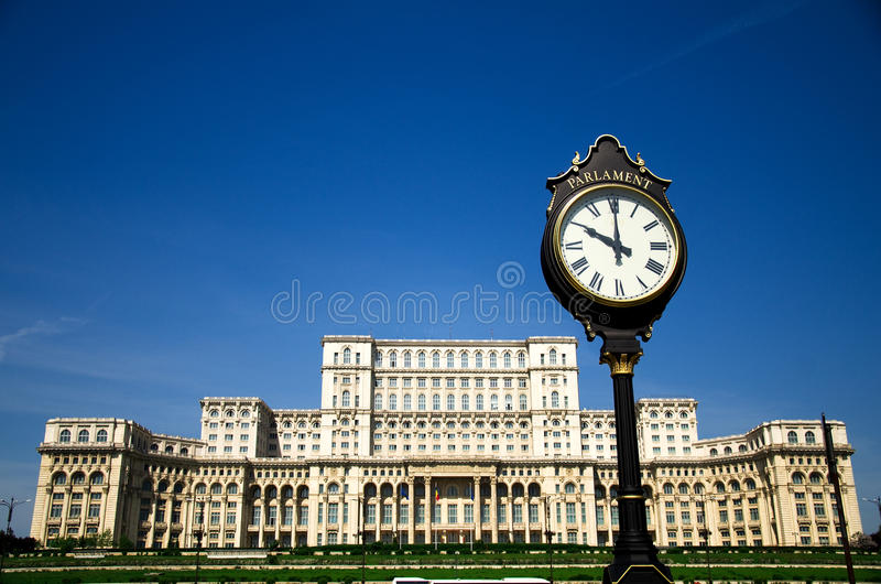 Boekarest - het paleis van het Parlement stock fotografie
