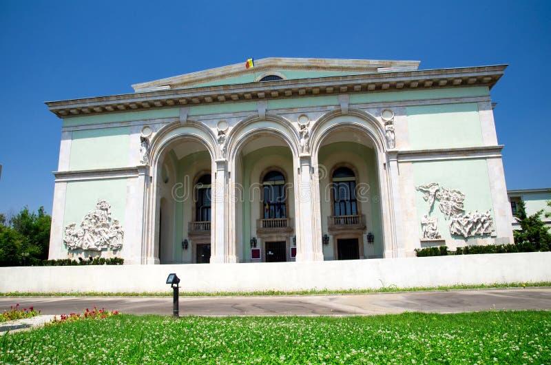 Boekarest - het Roemeense Nationale huis van de Opera stock afbeelding