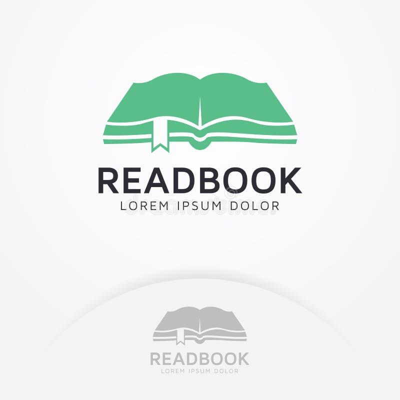 Boekembleem, het boek van de Embleemlezing vector illustratie