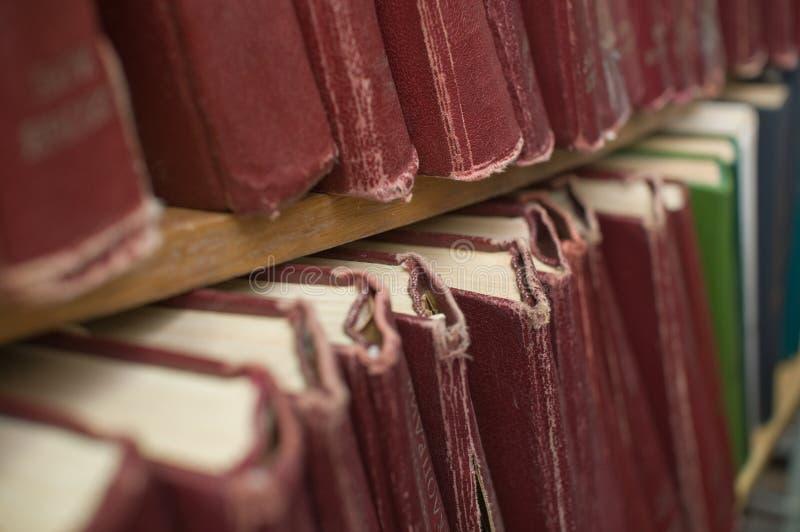 Boeken in bibliotheek. royalty-vrije stock foto