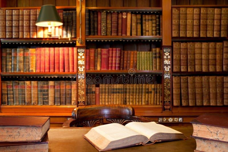 Boeken bij de bibliotheek stock afbeelding