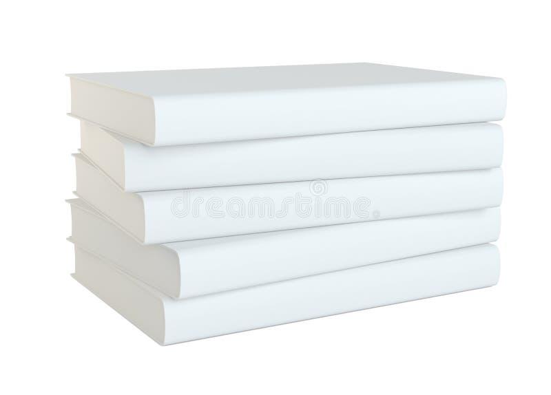 Boeken die op witte achtergrond worden geïsoleerd? royalty-vrije illustratie