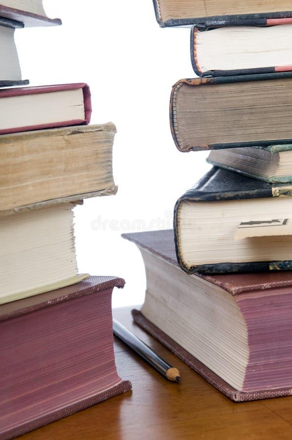 Boeken en Potlood stock afbeelding