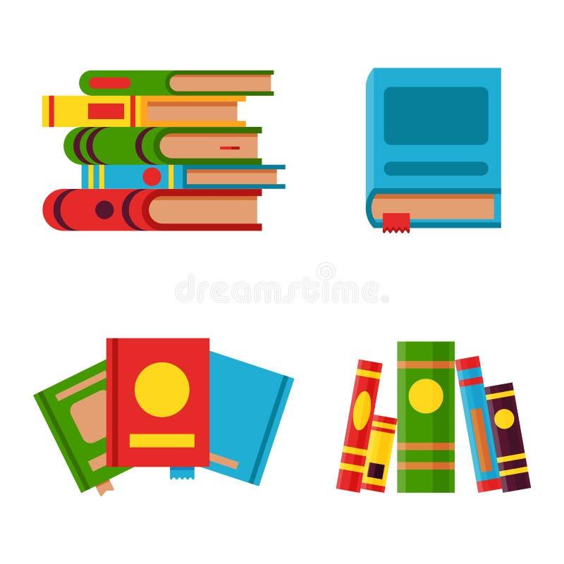 Boeken geplaatst vectorillustratie stock illustratie