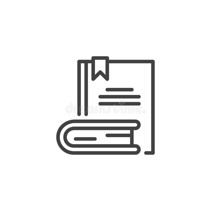 Boeken met het pictogram van het referentieoverzicht royalty-vrije illustratie