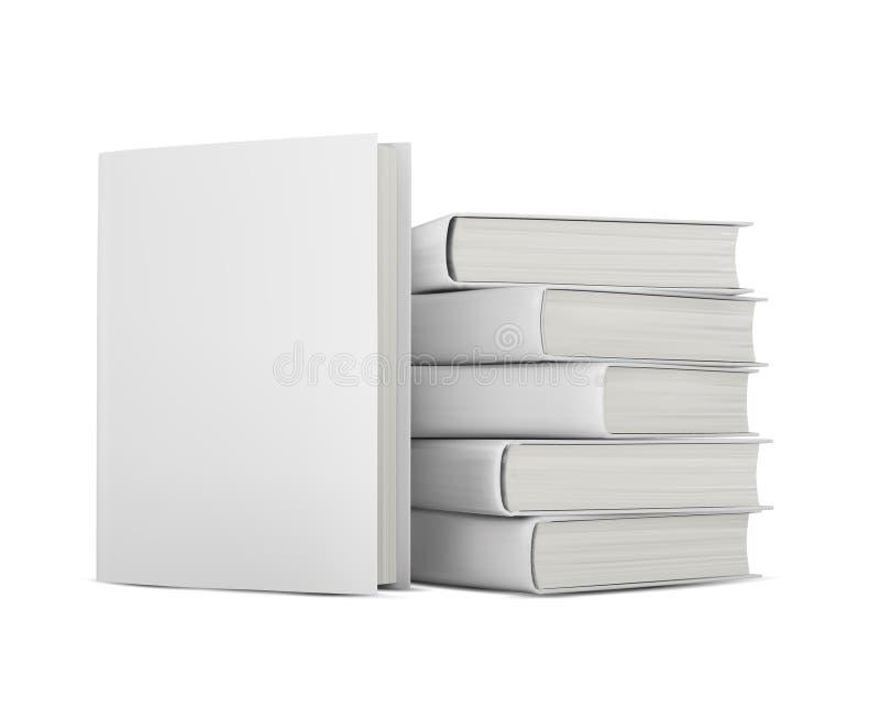 Boeken met lege dekking royalty-vrije illustratie