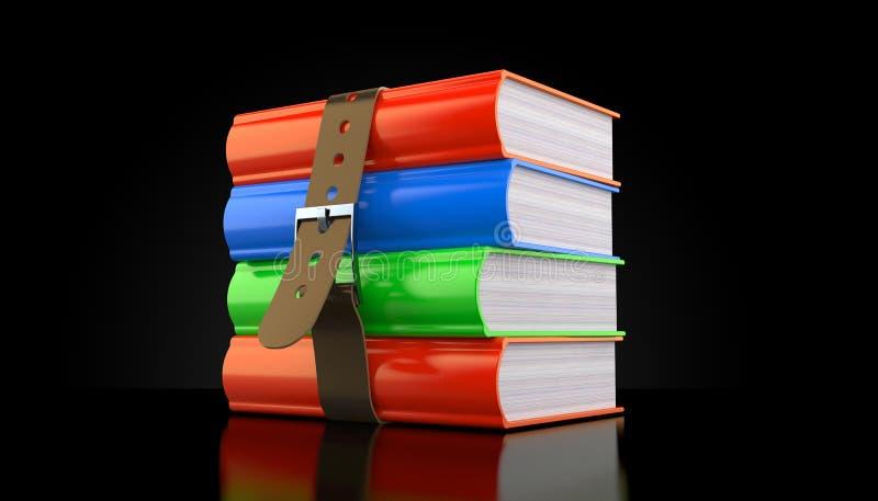 Boeken met riem stock illustratie