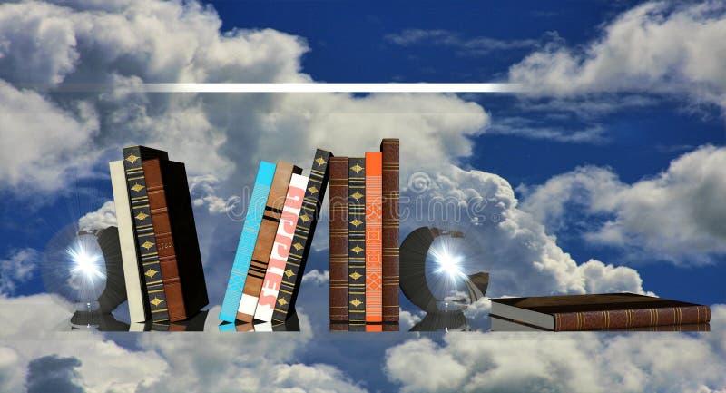 Boeken op een plank vector illustratie