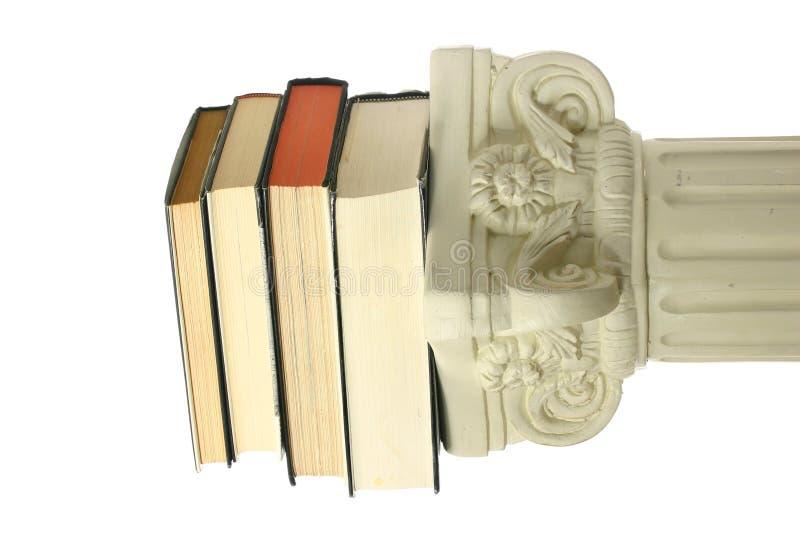 Boeken op voetstuk royalty-vrije stock foto