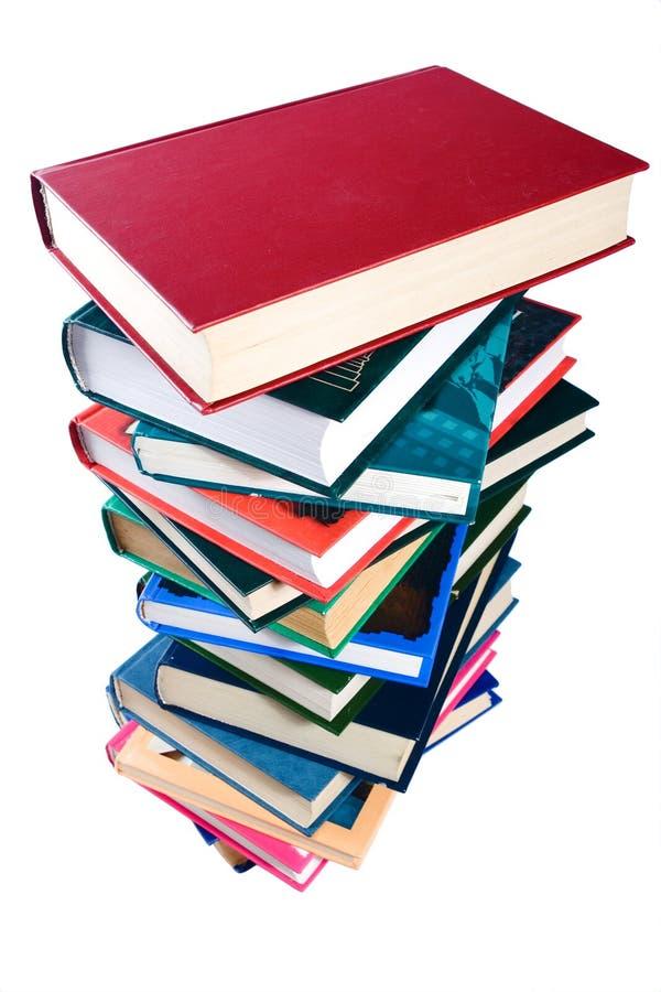 Boeken op wit stock afbeelding