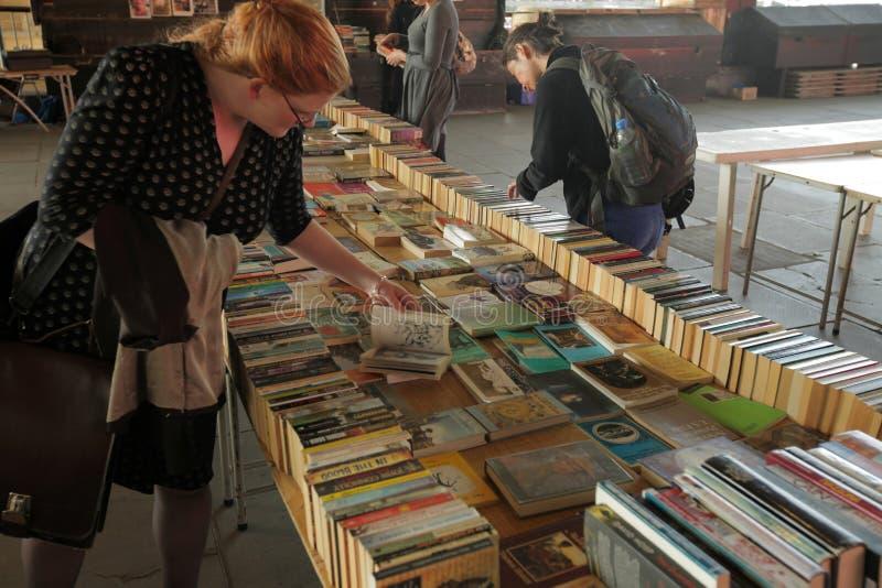 Boekenbeurs stock foto