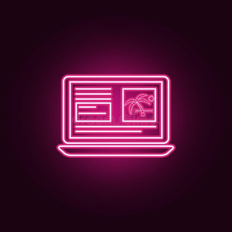 boekend onneon pictogram Elementen van turizmreeks Eenvoudig pictogram voor websites, Webontwerp, mobiele toepassing, informatieg vector illustratie