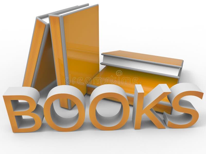 Boekenillustratie vector illustratie