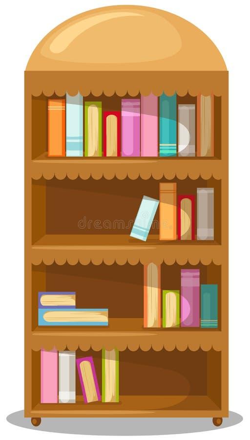Boekenkast vector illustratie