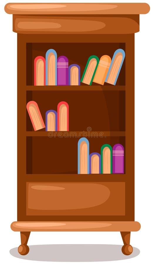 boekenkast royalty-vrije illustratie
