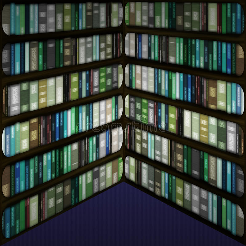 Boekenkast. stock illustratie