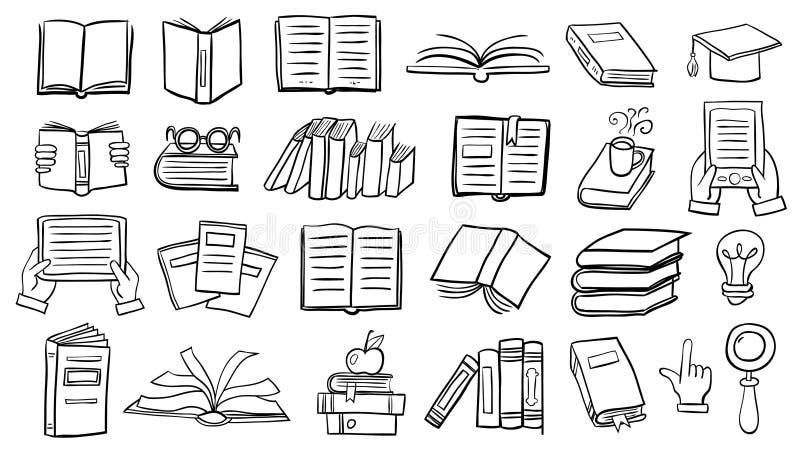 Boekenkrabbels stock illustratie