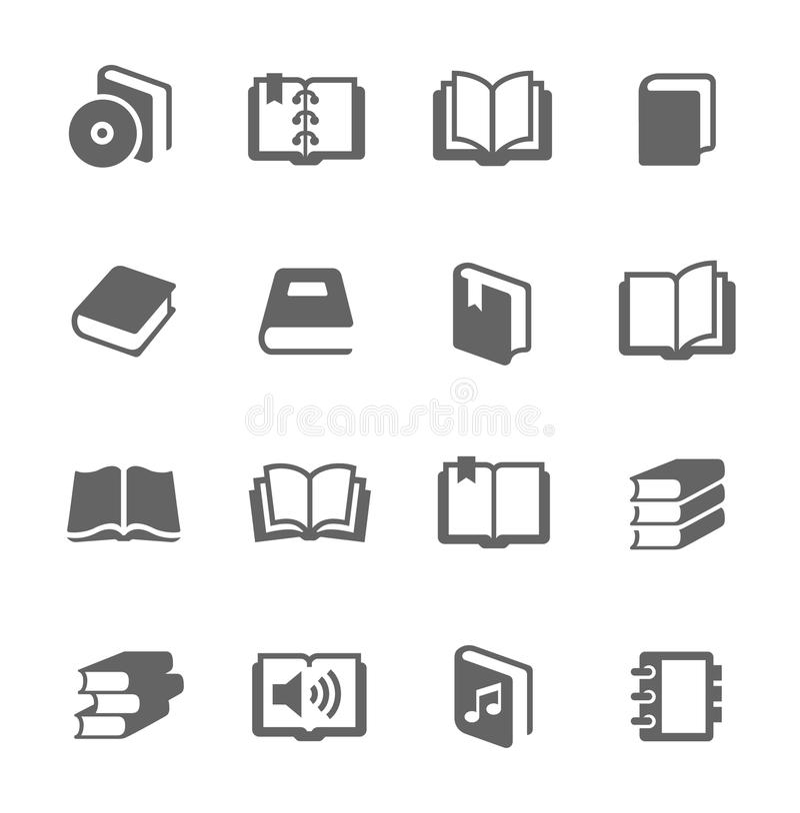 Boekenpictogrammen royalty-vrije illustratie