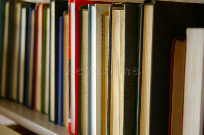 Boekenplank royalty-vrije stock foto's