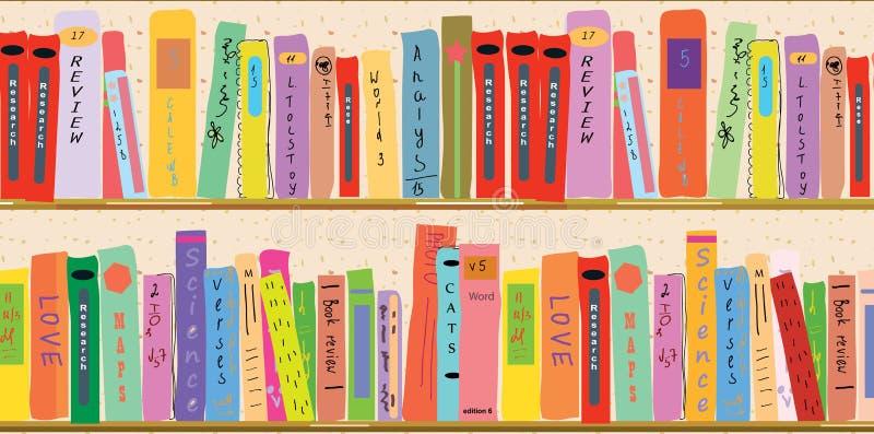 Boekenplankbanner royalty-vrije illustratie