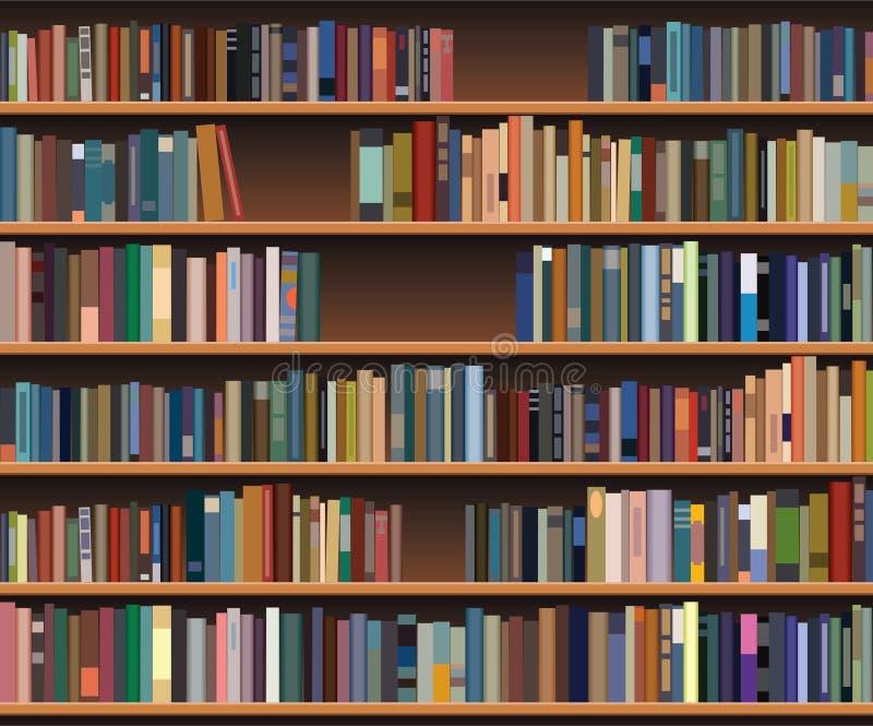 Boekenrek royalty-vrije illustratie