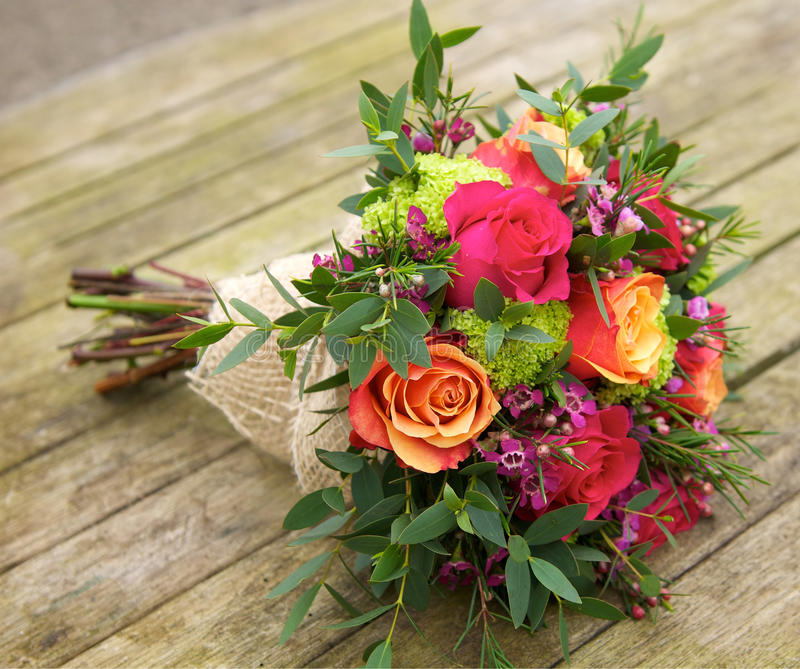Boeket van bloemen royalty-vrije stock foto