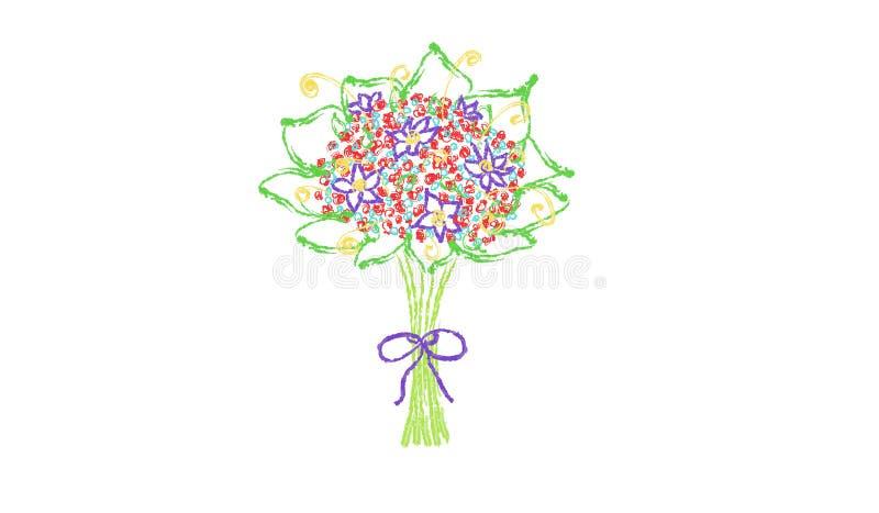 Download Boeket van bloemen stock illustratie. Illustratie bestaande uit bloesem - 54085872