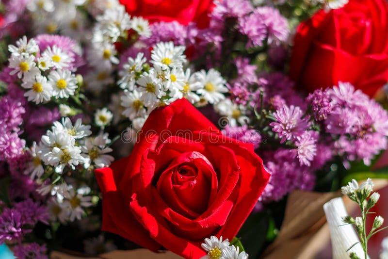 Boeket van bloemen, Boeket, bloemen royalty-vrije stock foto