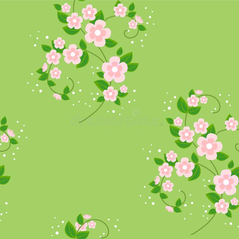 Boeket van bloemen De lente mooie achtergrond Textuur voor behangkleren Vector illustratie royalty-vrije illustratie