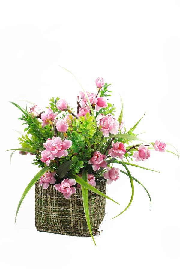 Boeket van bloemen in een vaas stock fotografie