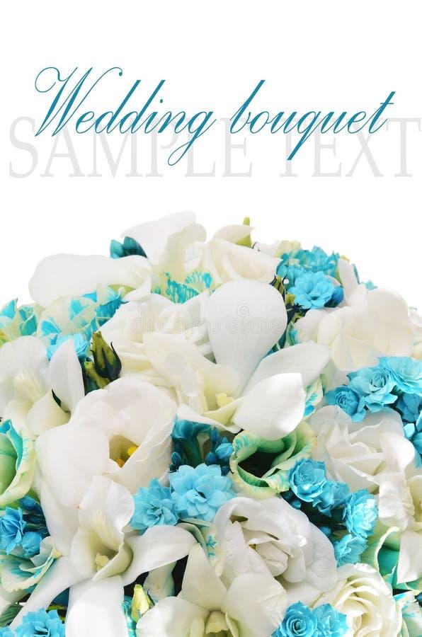 Boeket van bloemen   op wit royalty-vrije stock afbeelding