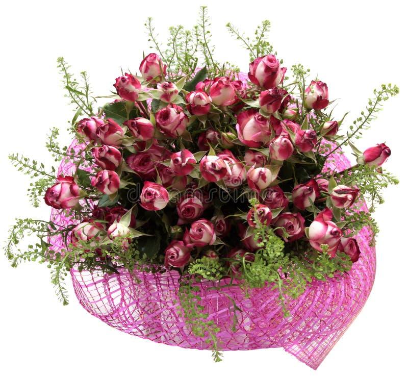 Download Boeket Van Bloemen Op Witte Achtergrond Worden Geïsoleerd Die. Rozen Stock Foto - Afbeelding bestaande uit flora, overeenkomst: 39108206