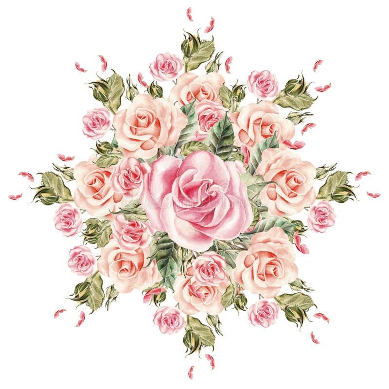 Boeket van bloemen watercolor vector illustratie