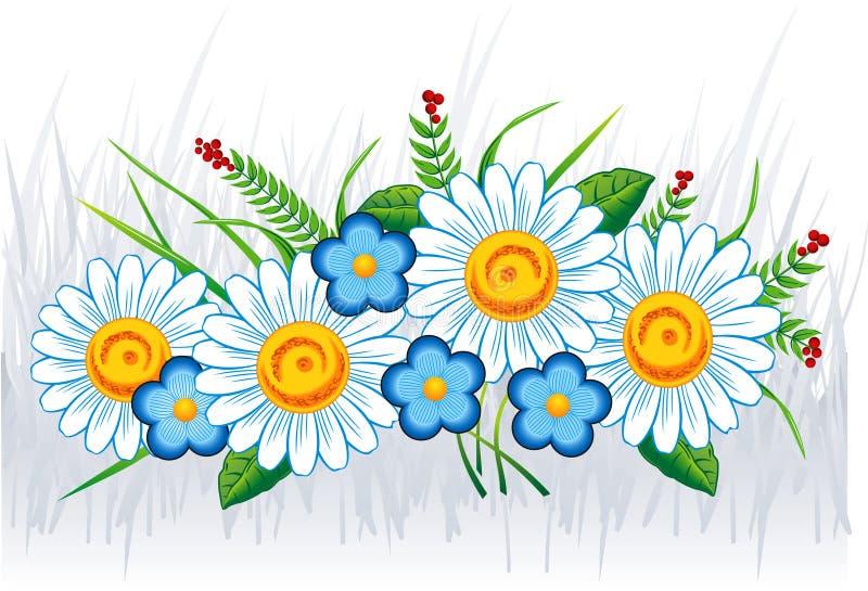 Boeket van de bloemen van de Zomer vector illustratie