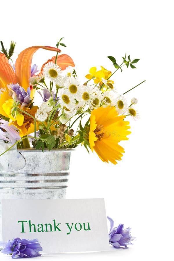 Boeket van de zomerwildflowers stock afbeelding