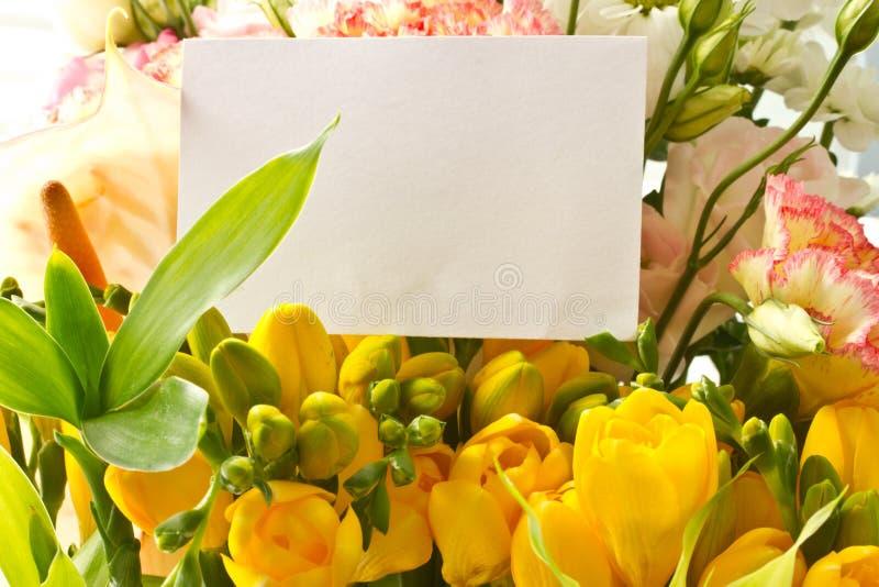 Boeket van gele bloemen royalty-vrije stock foto