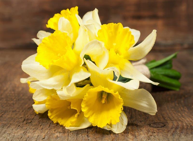 Boeket van gele narcissen stock afbeelding