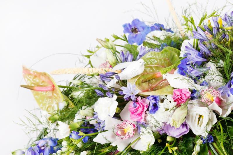 Boeket van kleurrijke bloemen stock afbeelding