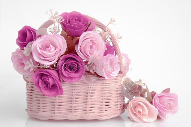 Boeket van roze bloemen stock fotografie