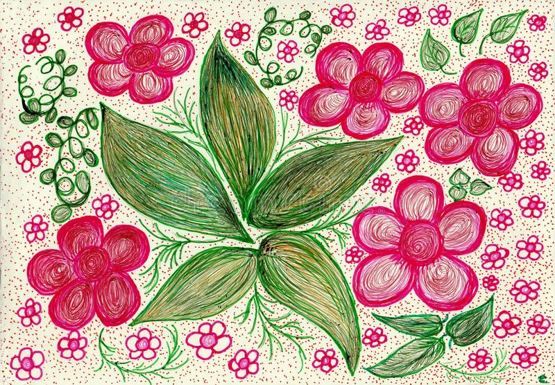 Boeket van roze dromen royalty-vrije illustratie