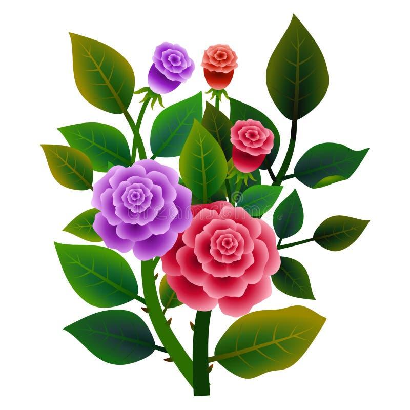Boeket van verse rozen Vector ilustration vector illustratie