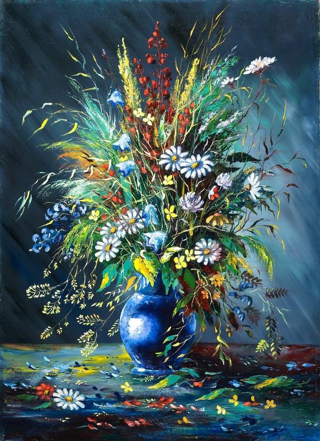 Boeket van wilde bloemen stock illustratie