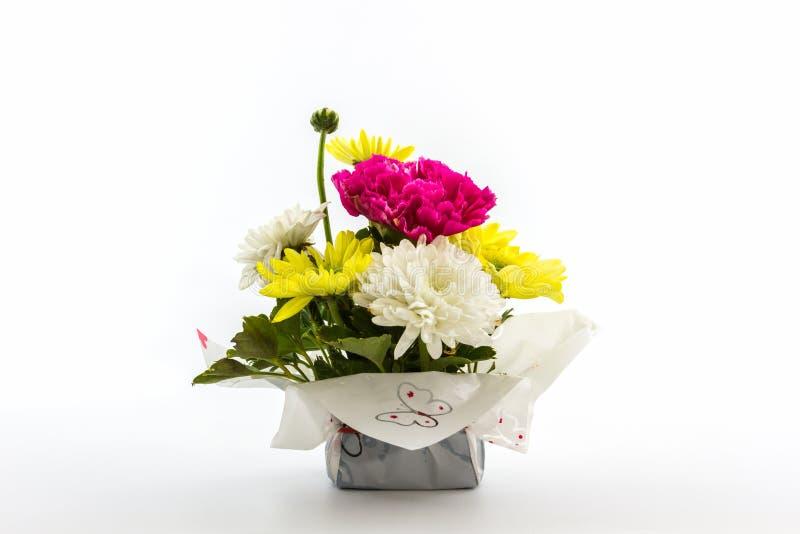 Boeket verse bloemen stock foto