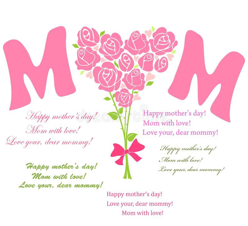 Download Boeket voor mamma vector illustratie. Illustratie bestaande uit voor - 54081468