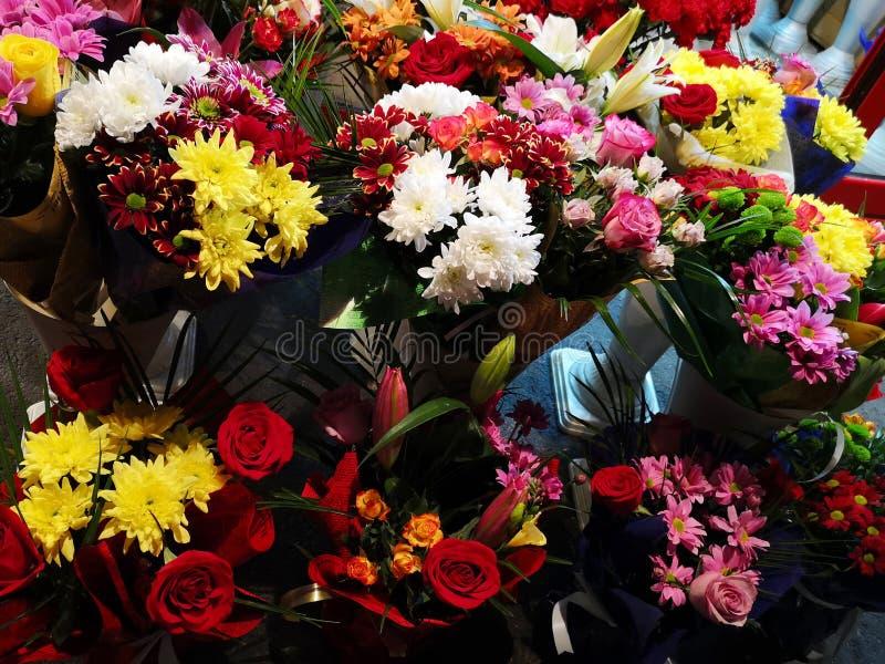 Boeketten van bloemen royalty-vrije stock foto