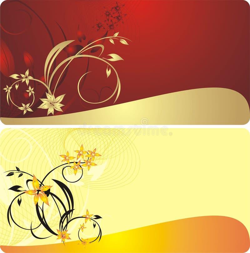 Boeketten van bloemen. Decoratieve achtergronden vector illustratie
