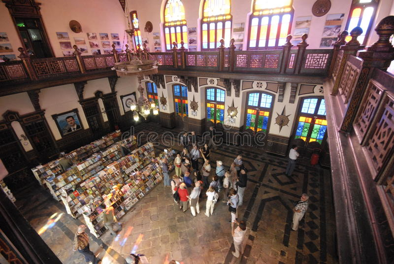 Boekhandel op station in Aleppo royalty-vrije stock afbeeldingen